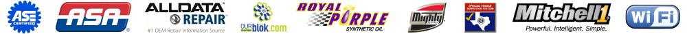 Kindall Auto ASE certified Alldata Royal Purple Mighty Auto Parts Texas State Emissions Inspection Mitchell1 Free WIFI